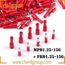 Cheaper RED 22-16A.W.G diameter bullet shaped male pre-insulating terminal MPD1.25-156