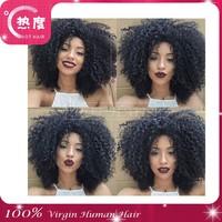 100% brazilian 6A afro kinky human hair extensions virgin brazilian afro kinky curly hair extensions