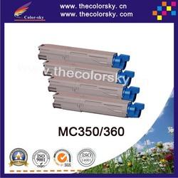 (CS-OC350) Color laser toner cartridge ceramic toner for OKI MC 350 360 43459376 43459375 43459374 43459373 (2.5k/2.5k pages)