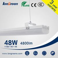 2 years warranty 1198x80x48mm linear 48w modern commercial aluminum led pendant lamp