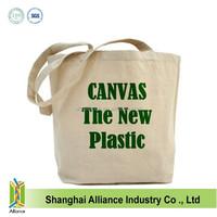Organic cotton promotion canvas tote bag ALD958