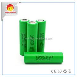 Environmental friendly 3.7volt battery 18650 lg mj1 3500mah high drain battery