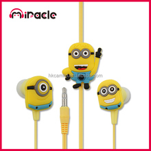 Anime Headset Despicable Me Minion Headphone for Christmas gift