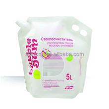 Windshield Washer Liquid / Detergent Stand Up Packaging Pouch