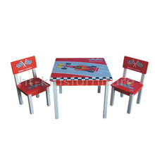 HT-SCTC01 60x60x48(H)cm E1 MDF Easy Assembly Wooden Children Table With Chairs Set, Hot Sale Race Car Table And Chair