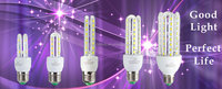 U shape led energy saving light bulb lamp 3w 4w 5w 6w 7w 8w 9w 10w 12w 15w 18w 16w 20w 23w 24w e27 led corn lamp bulb