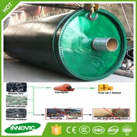 Scrap tire recycling pyrolysis to diesel equipment with competitive price