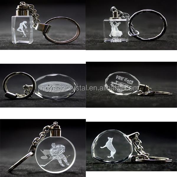diamond shape crystal key chain