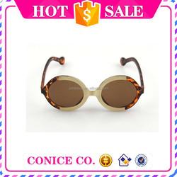 wholesale girls Fashionable Round Shape Metal fancy Sunglasses designer replica sunglasses good price sun glass