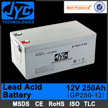 12v 250ah sealed lead acid used car and truck battery for sale