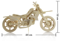 Wholesale New Design and High Quality Childern Educational and Practical 3D DIY Motorbike Puzzle Toy