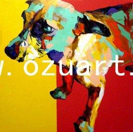 Pintado a mano moderno arte de la pared animal pop art paintings