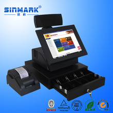 POS Terminal restaurant supermarket with management software in multi-language