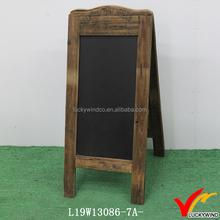Folding A Antique Standing Wooden Blackboard