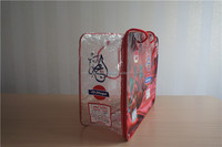 Oem colorful printed quilt cover packaging carry bag with two rope handles