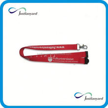 Customized personalized blank lanyard with oval hook and side buckle