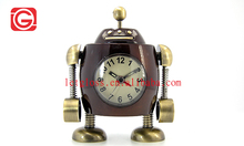 Zinc alloy Antique Robot Alarm metal Clock