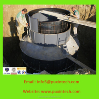 Digester tank & bio methane gas tanks for waste to biogas power plants