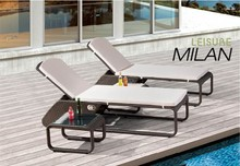 Milan Leisure Outdoor/Resort rattan pool furniture Resin Sun Lounger/chaise/beach/Recliner Chair