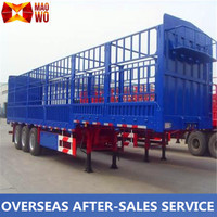 China supplier 3 Axles fence semi trailer for sale