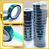 200C Green PET High Temperature Masking Tape Jumbo Roll