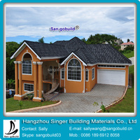 Africa color stone coat metal roof tile supplier