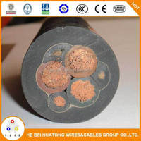 Low voltage rubber metallic flexible cable for mining