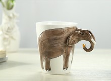 SC-1001-13,Wholesale Direct Factory Manufacture OEM Colorful Decor Gift Ceramic Animal Shaped Drinking Cup
