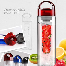 New design 700ml Foldable plastic easy to take Plastic private label fruit infuser bottle