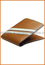 Textured leather two tone bifold wallet with eight card slots