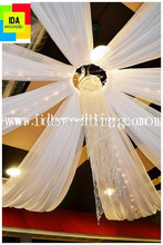 party decorations stretch ceiling fabric/ceiling curtain/ceiling curtain for wedding room decorating