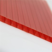 roof covering plastic triple wall polycarbonate hollow sheet polycarbonate panel