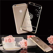 Luxury Crystal Rhinestone Case cover For iPhone 6 Diamond Gold Slim Shining Bling Electroplating with Drill Phone case