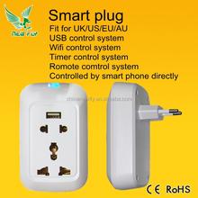 New Fly 2015 WiFi Plug Smart Plug Like Wemo WiFi Socket