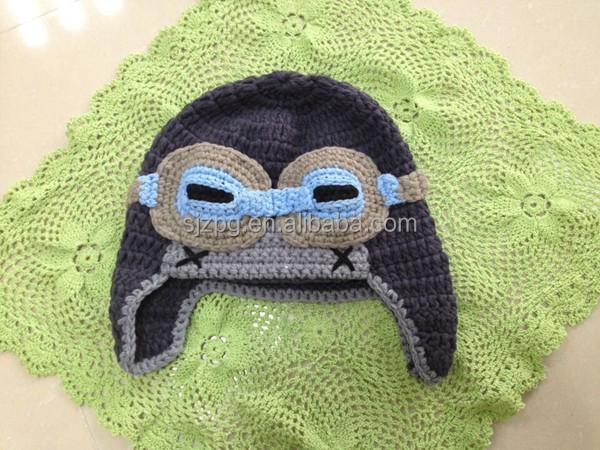 Crochet Pattern For Baby Pilot Hat : Hand Crochet Baby Hat,Crochet Pilot Cap,Crochet Helmet ...