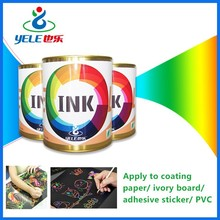 Scratch picture printing ink