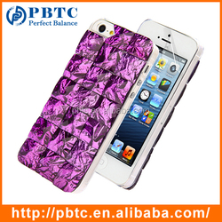 Bling Diamond Crystal 3D Flash Case For Iphone 5 Case , Mobile Phone Bulk Case For Iphone 5