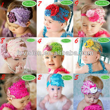 Top sale 2012 Girl double feather Christmas baby headdress