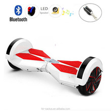 2015 hottest 2 wheels self balancing scooter with bluetooth music & colorful led hight