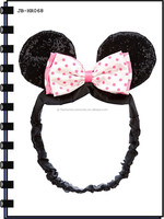 2014 Fashion Cat Ears Headwrap With Bow For Girls
