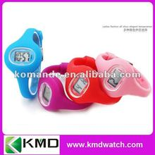 2012 Kid's digital silicone watch in colorful colory big case narrow band