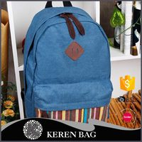 2016 New Design Blue and Red Canvas Backpack High Quality in China