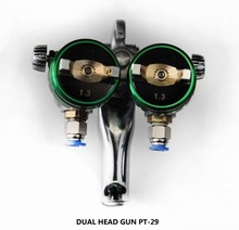 HVLP dual head nozzle spray gun for chrome spray PT-29