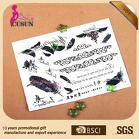 safe non-toxic pass test report fashion rose temporary tattoo