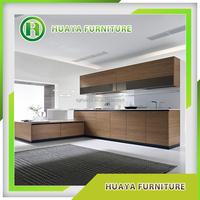 PVC wood grain kitchen cabinets/vinyl wrapped kitchen cabinet door