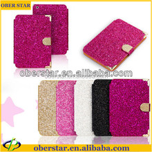 For iPad mini 2 With Retina Bling Diamond Card Holder Stand Folio Leather Wallet Case Cover