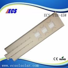 Factory sale all in one street light/decor garden solar light for fence post/ solar with body sensor