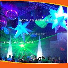 inflatable led star decoration/party decoration/led inflatable wedding stage decoration