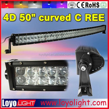 osram 4d 3w led light bar 50 inch double row 288w led offroad lightbars curved