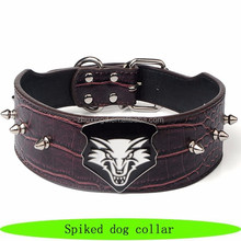 Durable collar for a dog, real leather spiked dog collar, innovative pet products